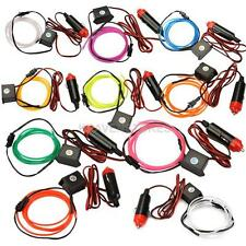 Flexible Neon Cold Light Glow Strip Rope EL Wire with 12V Inverter for Car hv2n
