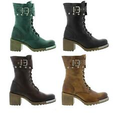 Fly London Lask Womens Leather Zip, Lace-up Mid Calf Heeled Boot Sizes UK 4 - 8