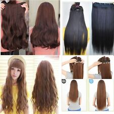 Clips In Hair Extensions half head straight curly wave lady new beauty  CA wm