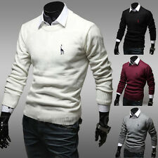 2014 Men's Slim Fit Casual Round Neck Pullover Knitting Tops Knitwear Size XS~L