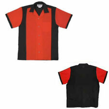 Mens Red & Black Retro 50s Tenpin Bowling Shirt - NEW! + Free UK Delivery*