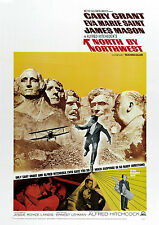 HITCHCOCK NORTH BY NORTHWEST CLASSIC MOVIE POSTER Print