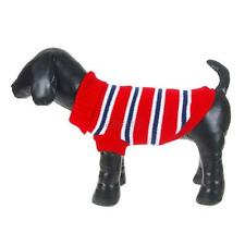 Small Pet Puppy Dog Clothes Warm Knit Sweater Coat Stripe Winter Jacket Jumper