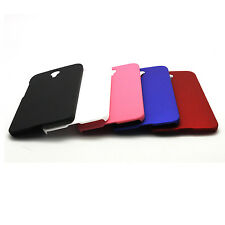 Hard Rubber Case Cover Skins + Film For Alcatel One Touch Idol 2 OT 6037Y 6037K