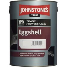 Johnstones Trade Oil Based Eggshell White Interior / Exterior Paint 500ml | 1L