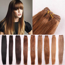 """100% Real Human Indian Remy Hair Weave Weft / Extensions Unprocessed 12""""-26""""100g"""