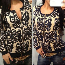 Women Vintage Pattern Knitted Sweater Batwing Sleeve Tops Cardigan Outwear Coat