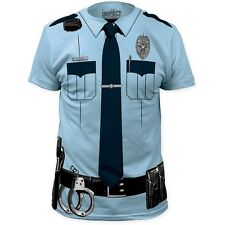 NEW Officer Cop Handcuffs Uniform Police Costume Outfit Suit Law T-shirt top tee