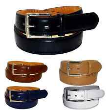 BIG MEN CASUAL /DRESS LEATHER BELT BLACK / 6 Sizes Avail 46/ 48/ 50/ 52/ 54/ 56