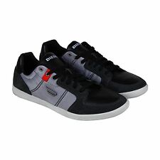 Diesel Mens Hutsky Gray Black Textile Lace Up Sneakers Shoes