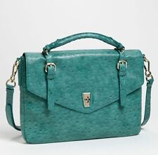MARC BY MARC JACOBS OSTRICH LEATHER MESSENGER BAG HANDBAG PURSE TOTE NWT $358.00