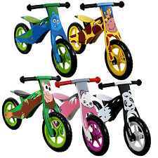 Nicko Childrens Animal Designer Wooden Balance Bikes Kids Bicycle Ideal Present