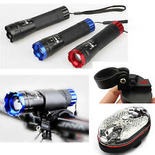 LED Bicycle Bike Front Rear Cycling Flashlight Light Torch Headlamp Head Safety