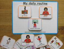 My daily routine board pecs cards~Communication~ SEN~Autism~Learning~Home use