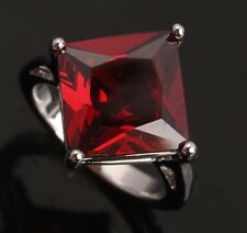 ARCHAIZE Fashion Jewelry Garnet Gemstones Silver Rings US#Size5 6 7 8 9 T0095