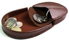 LEATHER EMPORIUM QUALITY GENUINE LEATHER COIN TRAY PURSE CHANGE WALLET POUCH