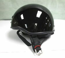 NOS Black GMAX GM35S Half Helmet Motorcycle Scooter Moped DOT XL XXL 2XL