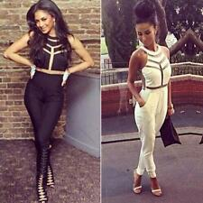 2014 New style Black/White Women Bodycon Jumpsuits Rompers Bodysuit Outfits