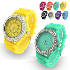 Fruit-Color Classic Gel Silicone Crystal Men Lady Boy Jelly Watch Birthday Gifts