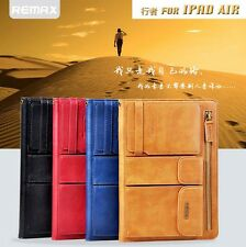 Remax Wristlet Strap Card Wallet Leather Smart Stand Case for iPad Air 5 & Mini