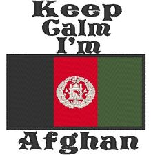 Keep Calm I'm  Afghan. With Afghanistan Flag Baby Bodysuit Embroidery