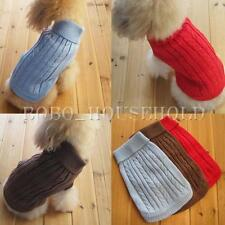 Pet Dog Cat Clothes Winter Warm Sweater Knitwear Knit Puppy Coat Outwear Apparel