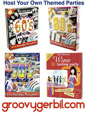 NEW. 'Host Your Own' 60's / 70's / 80's / Wine Tasting. Themed Party/ Night.