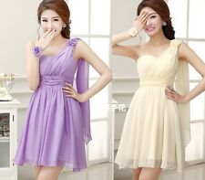 Short Chiffon Evening Bridesmaid Dress Prom Dress Formal Party Ball Gowns