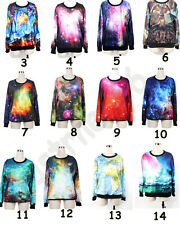 Hot Mens Womens 3D Space Galaxy Print Pullover Hoodie T Shirt Sweater Sweatshirt