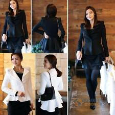 Fashion Women's Lady Casual Slim Suit One Button Blazer Swallow Tail Jacket Coat