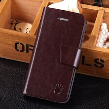 New Luxury Magnetic PU Leather Flip Wallet Card Case Stand Cover For iPhone 5 5S