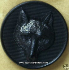 Fox Mask Buttons Black Equestrian Hunting 2 Buttons For  £1.00   Single Order