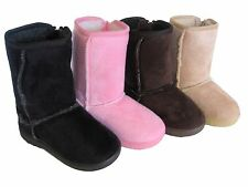 Brand New Camel Infant Toddler Girls' Cute Winter Casual Faux Fur Boots Sz 5-13