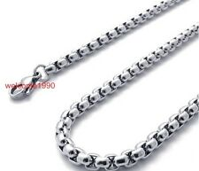 Lot 10pcs 3.2mm Fashion Square Rolo Chain Necklace Stainless Steel Wholesale