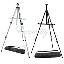 Black Silver Folding Tripod Easel Artist Art Painting Paint Stand with Carry Bag