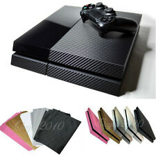 PS4 Playstation 4 Textured Carbon Fibre Skin Sticker Wrap Accessory Cover Decal