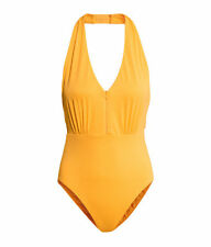 BNWT H&M YELLOW HALTERNECK SWIMSUIT UK 16 EU 42 US 12