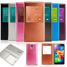 Luxury S-View Window PU Leather Flip Case Cover for Samsung Galaxy S5 G900 i9600
