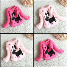 Christmas Deer Baby Girl Outer Sweatshirt Coat Outwear Pullover Cardigan Clothes