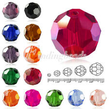 50x 12x12mm Flat Round Faceted Rondelle DIY Crystal Beads For Swarovski Fashion