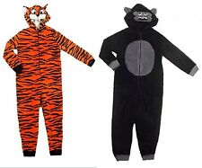 M&S kids / boys unisex onesie, tiger, monkey / gorilla age 3-16 NEW