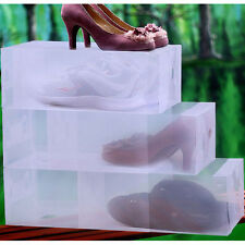 Heavy Duty Ladies Stackable Foldable Plastic Shoe Storage Boxes Organiser Drawer