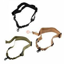 AR Rifle Gun Adjustable Tactical Single 1 One Point Sling Bungee Strap