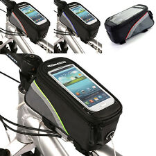 """❤ CHEAP 4.2"""" Portable Durable Cycling Bicycle Front Tube Mobile Phone Bag Pouch"""