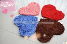 6color Dinningroom Door Mat Heart Shaped Carpet Fluffy Chenille Rug Cushion