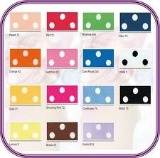 Polka Dot Berisfords Satin Ribbon Choose Colour, Length and Width Free Post