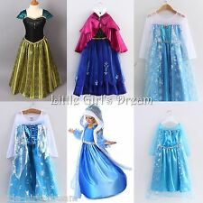 FROZEN ANNA ELSA PRINCESS DISNEY KIDS COSTUME PARTY FANCY QUEEN DRESS UK SELLER