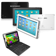 "KOCASO Tablet Android 4.1 Dual Camera 10.1"" Bluetooth 1.6 GHz Keyboard Bundle"