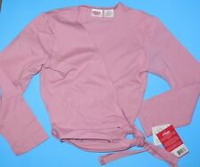 NWT Capezio Cotton Wrap Sweater CC850 Deep Rose Ladies sizes Ballet coverup