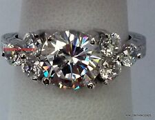 925 Sterling Silver Stunning Solitaire with Accents CZ Ring Size 5 6 7 8 9